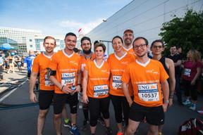 L'équipe de Lalux était présente sur la ligne de départ pour la 14e édition de l'ING Night Marathon Luxembourg. ((Photo: Nader Ghavami))