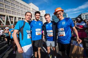 L'équipe de la Deutsche Bank était présente sur la ligne de départ pour la 14e édition de l'ING Night Marathon. Luxembourg ((Photo: Nader Ghavami))