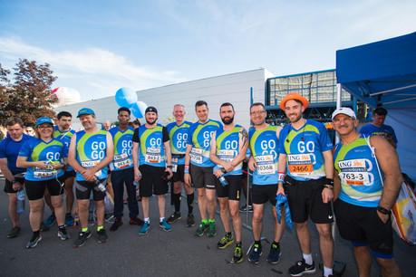 L'équipe de Tango était présente sur la ligne de départ pour la 14e édition de l'ING Night Marathon Luxembourg. (Photo: Nader Ghavami)