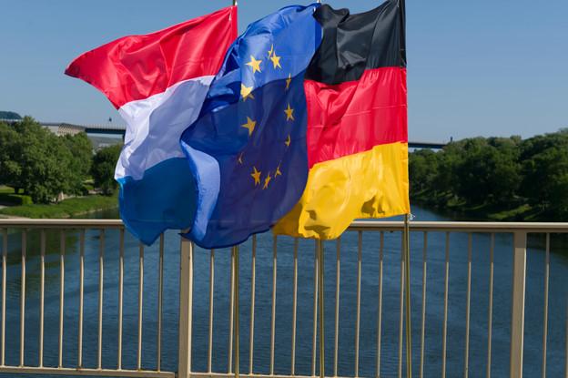 La frontière entre l'Allemagne et le Luxembourg est néanmoins restée ouverte pour les travailleurs frontaliers. (Photo: SIP/Jean-Christophe Verhaegen)