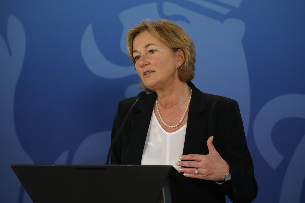 Paulette Lenert, ministre de la Santé a fait le point sur la propagation du coronavirus et sur les décisions du gouvernement pour soutenir l'économie du pays face à la crise. SIP/JULIEN WARNAND