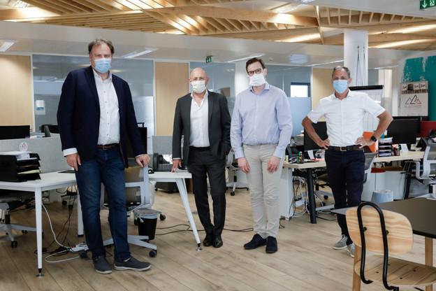 De gauche à droite:Gérard Hoffmann (président honoraire), Yves Reding (vice-président), Vincent Lekens (président) et Marc Hemmerling (vice-président et secrétaire général). (Photo: Romain Gamba / Maison Moderne)