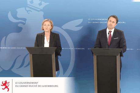 Xavier Bettel (DP) et Paulette Lenert (LSAP) se sont exprimés sur la situation sanitaire. (Photo: Capture d'écran)