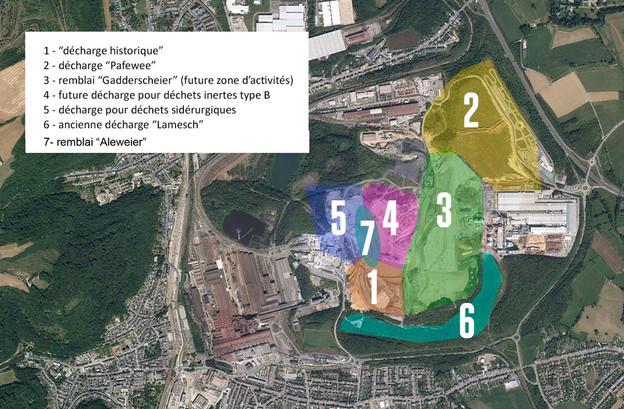 Les zones 4 et 5 du crassier de Differdange ne sont pas autorisées. Et si aucune activité n'a lieu sur la zone 4, la zone 5 sert d'ores et déjà de décharge temporaire. (Photo: ministère de l'Environnement)