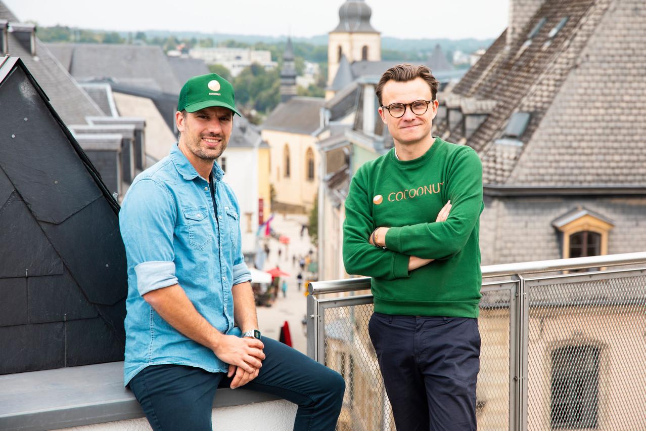 Nicolas Legay et Aurélien Dobbels, cofondateurs de Cocoonut. (Photo: Simon Verjus/Maison Moderne)