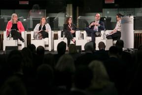 Denise Voss (LuxFLAG); Elizabeth Gillam (Invesco); Sandra Crowl (Carmignac); Frédéric Hoogveld (Amundi); Katie Martin (Financial Times) ((Photo: Nelson Coelho / @nelsoncoelhofilms))