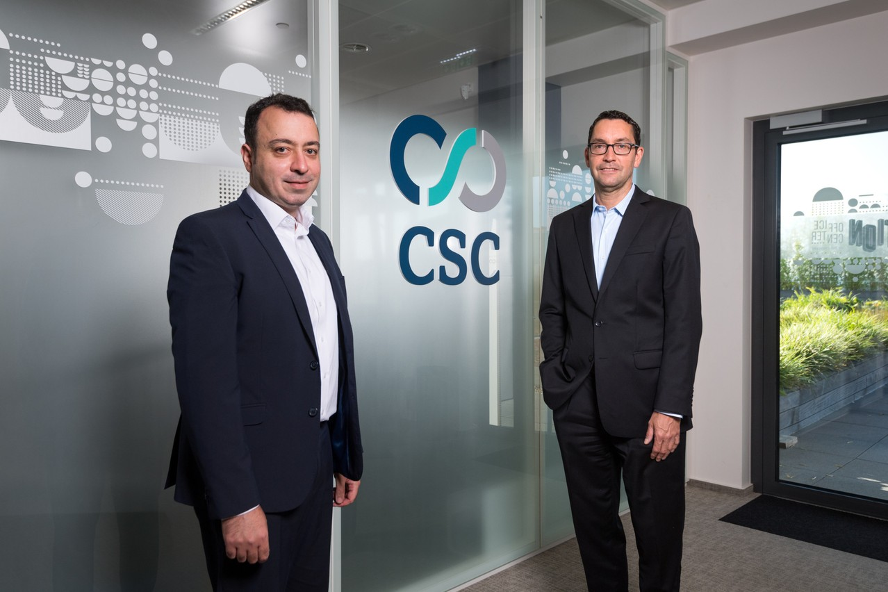 Pierre Mifsud and Yves Cheret are responsible for developing the activities of CSC Luxembourg Services. Photo: Maison Moderne/Nader Ghavami