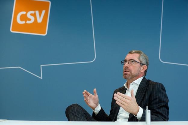 Frank Engel veut repositionner le CSV. Selon lui, ce n'est pas vers la droite qu'il doit se diriger. (Photo: Matic Zorman / Archives)