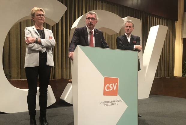 Face à une salle bien remplie, le président du CSV Frank Engel a réaffirmé sa volonté d'être une force d'opposition mais aussi de proposition. (Photo: Paperjam)