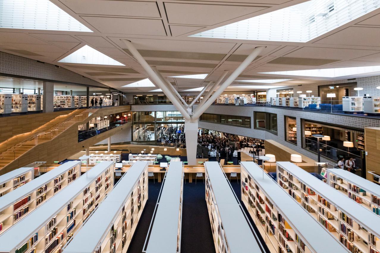 Les bibliothèques, dont la Bibliothèque nationale du Luxembourg, vont pouvoir rouvrir à compter du lundi 11 mai. (Photo: Caroline Martin, archives Paperjam)