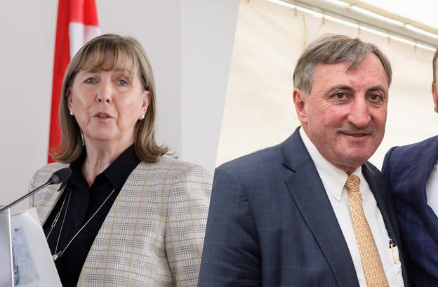 Lydie Polfer et Jean-MarieHalsdorf nient tout acte répréhensible. (Photo: Maison Moderne/Montage: Maison Moderne)