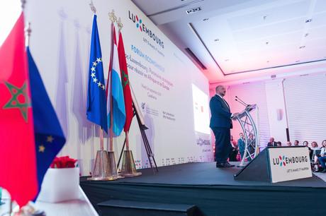 Étienne Schneider, vice-Premier ministre et ministre de l'Économie, a invité les membres de la délégation à nouer des relations d'affaires qui bénéficieront au Maroc comme au Luxembourg. (Photo: SIP /Jean-Christophe Verhaegen)