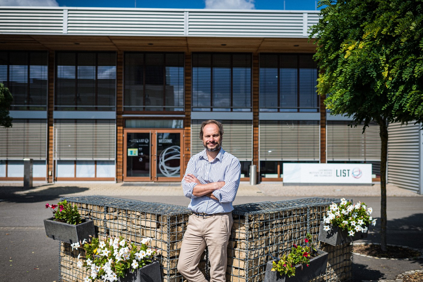 Damien Lenoble, in front of the soon-to-be-former LIST building. Photo: Mike Zenari