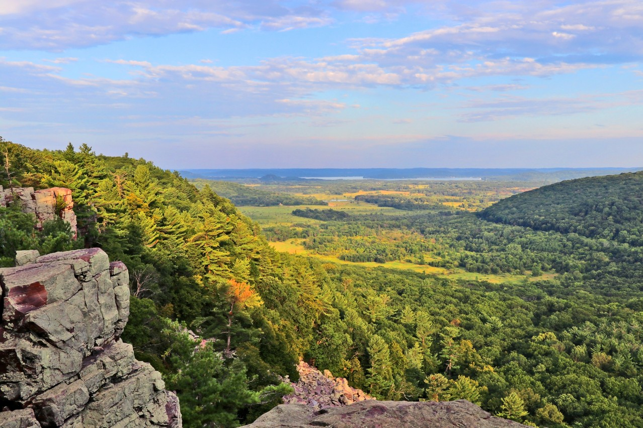 Pictured is the Devil's Lake State Park, Baraboo, Wisconsin. The director says that the Belgian landscape reminds him of Wisconsin, where he was raised. Shutterstock