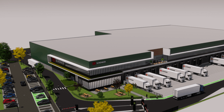 Le logisticien DB Schenker Luxembourg triplera sa surface en s'installant à Contern. (Illustration: WDP)