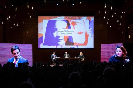 Nicolas Buck (UEL) et Nora Back (OGBL) étaient réunis pour un grand débat jeudi soir à Dudelange. (Photo: Patricia Pitsch/Maison Moderne)