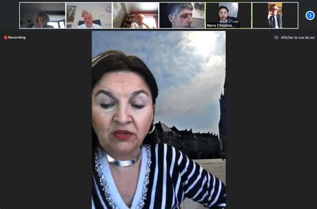 La ministre belge Marie-ChristineMarghem a longuement répondu aux questions des bourgmestres de la province de Luxembourg. (Photo: Capture d'écran)
