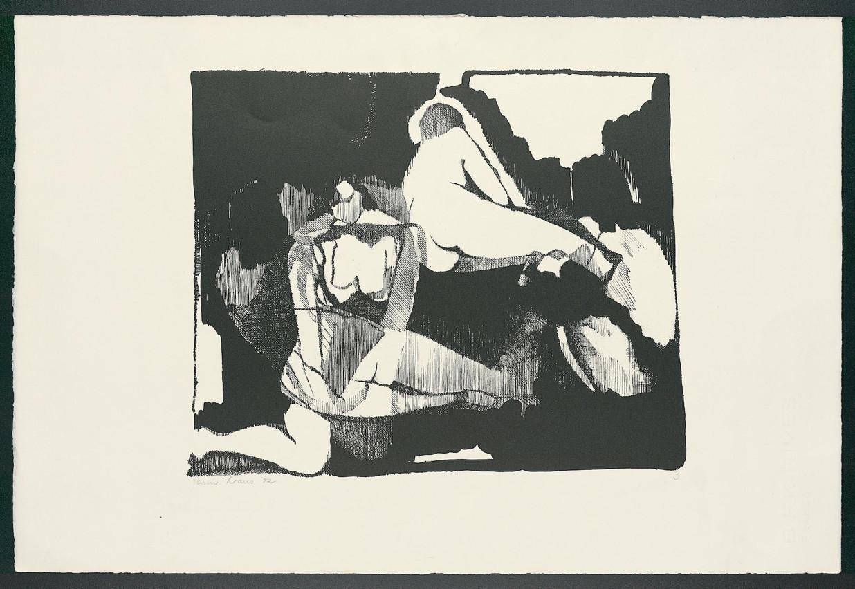 L'œuvre «Femmes assises 3» (1972), de Carine Kraus, est à découvrir dans l'exposition «Figure in Print». (Photo: Marcel Strainchamps)