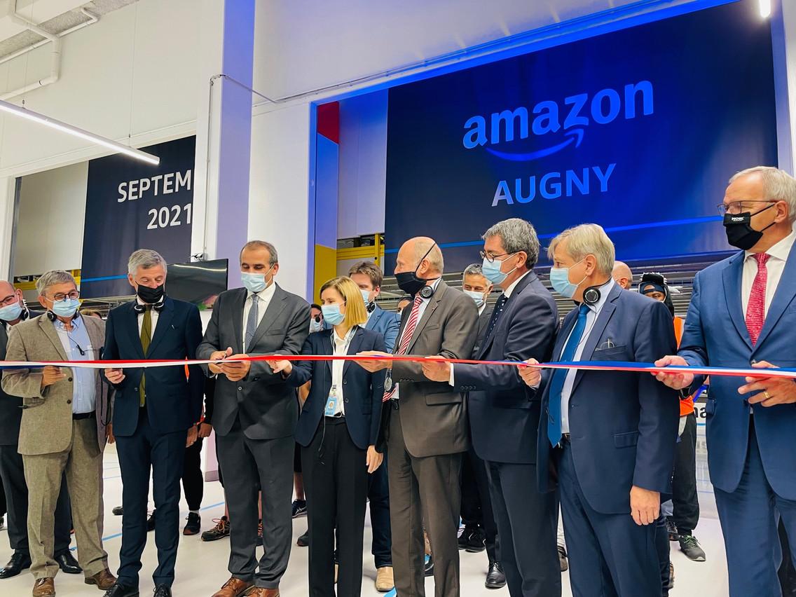 Le centre de distribution d'Amazon près de Metz a été inauguré jeudi 23 septembre. (Photo: Mairie d'Augny)