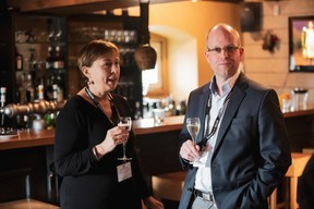 Sylvie Fasbinder (Confédération luxembourgeoise du commerce) et Joachim Colles (Ista Luxembourg) ((Photo: Jan Hanrion/ Maison Moderne))
