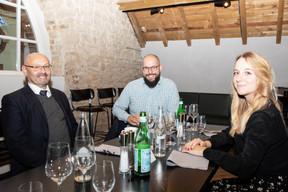 Thierry Manconi (Thierry Manconi), Julien Gondon (BIAC Log) et Eugénie Desmet (Aronova SA) ((Photo: Julian Pierrot /Maison Moderne))