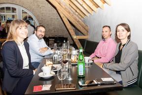 Vanessa Jarlot (Cinerea Benelux), Frédéric Lens (F3C Systems), Yanniss Levron (Change Digital), et Marjorie Hinze (ar&ah architectes) ((Photo: Julian Pierrot /Maison Moderne))