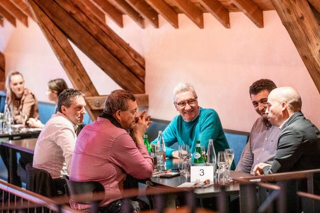 Didier t'Kint (BFED), Stéphane Lia (Inukshuk Coaching Luxembourg), Marco Viamonte (Viasun), Francis Gillard (Low Energy Consulting) et Emmanuel Chrétien (Buro Conseil Luxembourg) (Photo: Julian Pierrot /Maison Moderne)