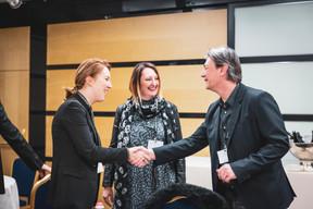 Andrea Jagicza (JAD Luxembourg interior design), Céline Dupuy (Rcarré) et Fred Pilet (EGB Interior design) ((Photo: Patricia Pitsch/Maison Moderne))