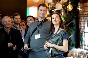 Olivier Rousseau (Oburo), David Laloux (Groupe L Architectes) et Julia Vas (Exoatlet) ((Photo: Jan Hanrion/Maison Moderne))
