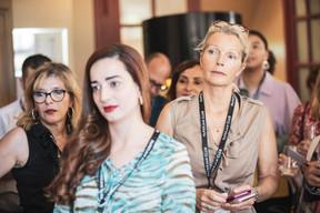 Djamila Liévin (MGSI), Fernanda Melo (Paladium) et Marianne Van Den Eerenbeemt (Livinlux) ((Photo: Jan Hanrion / Maison Moderne))