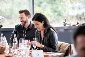 Gregory Di Pompeo (Impulse Sports) et Céline Corbiaux (Avocat Céline Corbiaux) ((Photo: Jan Hanrion/Maison Moderne))