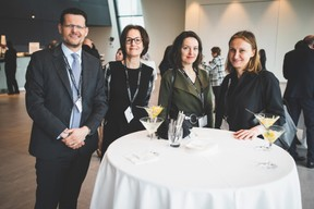 Adel Nabhan (Degroof Petercam Luxembourg), Laurence Ponchaut (Distinct Consulting),Alina Biberi (St George's International School) et Alina Ignatieva (CTF Holdings) ((Photo: Arthur Ranzy))