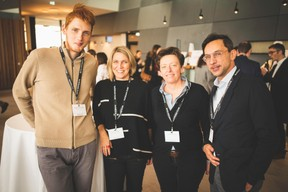 Grégoire Mathonet (ANote Music),Patricia Streber (XXA Architecture), Gaetane Meilleur (AIBM) et Pierre-Yves Lanneau Saint Léger (VitalBriefing) ((Photo: Arthur Ranzy))
