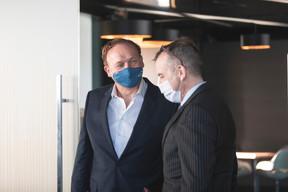 Michel Sermon (BlueBoy Luxembourg) et Jim Kent (Maison Moderne) ((Photo: Marc Blasius/Maison Moderne))
