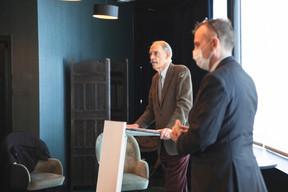 Francis Carpenter (AyersRock.Lux) et Jim Kent (Maison Moderne) ((Photo: Marc Blasius/Maison Moderne))