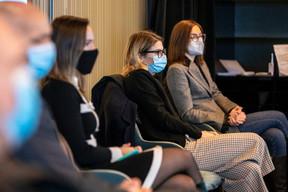 Marie-Laure Valmain (Michael Page), Khrystyna Sahan (Badenoch + Clark) et Violetta Kuvaeva (SES) ((Photo: Julian Pierrot / Maison Moderne))
