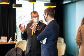 Jim Kent (Maison Moderne) et Philipp von Restorff (Luxembourg for Finance) ((Photo: Julian Pierrot / Maison Moderne))