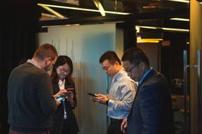 Sully Lu (FTA Communication Technologies), Jin Weijie (China Construction Bank Europe) et Shaohui Zhang (Dentons) ((Photo: Léo Biewer/Maison Moderne))