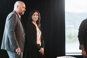 Stéphanie Crégut (Maison Moderne Media Sales) et Duncan Roberts (Delano) ((Photo: Jan Hanrion / Maison Moderne))
