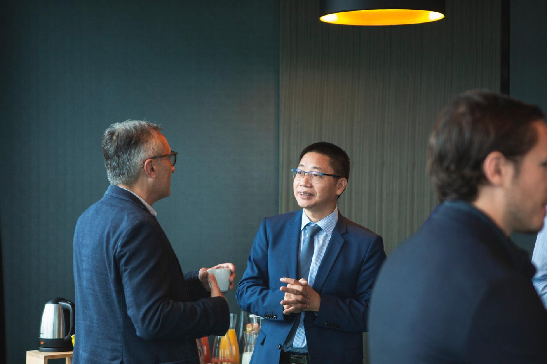 Christophe Perini (FTA Communication Technologies) et Shaohui Zhang (Dentons) (Photo: Léo Biewer/Maison Moderne)