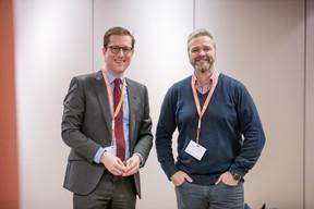 Philipp von Restorff (Luxembourg for Finance) et Darren Robinson (Anderson Wise) ((Photo: Jan Hanrion/Maison Moderne))