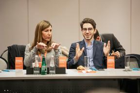 Anne-Sophie Pévergne (Anderson Wise) et Quentin Ducreux (Michael Page) ((Photo: Jan Hanrion/Maison Moderne))
