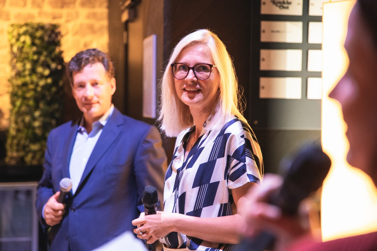 The Delano Live on 14 September welcomed special guests Nicolas Mackel, Luxembourg for Finance CEO, and Cindy Tereba, director international affairs at the Luxembourg Chamber of Commerce. Photo: Simon Verjus, Maison Moderne