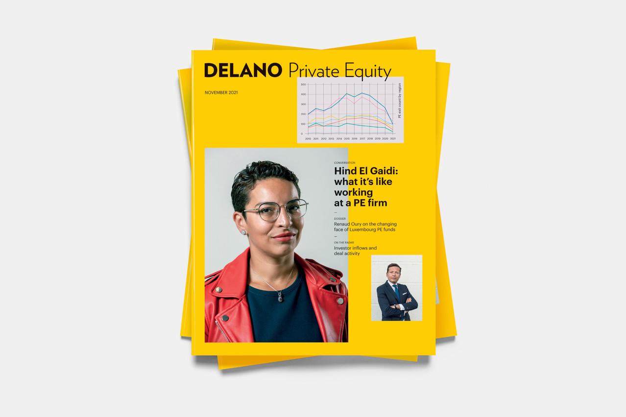 Le supplément Private Equityde Delano de novembre2021, disponible en kiosque dès le 20 octobre. (Visuel: Maison Moderne)