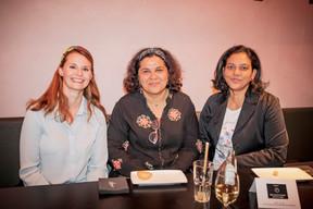 Jessica Bauldry (Maison Moderne) , Esmée Chenagpen et Raakhee Bachonee ((Photo: Jan Hanrion/Maison Moderne))