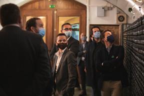 Patrick Coelho (Properties Solutions), Francois Dauphin (Adecco), Alexandre Gheysens (Optim2 Gain de Place) et Adrien Trudelle (Golf Planet Events) ((Photo: Simon Verjus/Maison Moderne))