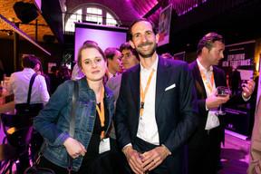 Katia Ciesielska (Park Properties) et Patrick Schomaker(Luxembourg Air Rescue) ((Photo: Patricia Pitsch / Maison Moderne))