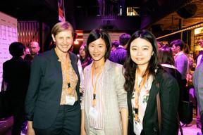 Sarah Battey, Juanping Li (Link Asset Services) et Xueyang Wang (EQT Luxembourg) ((Photo: Patricia Pitsch / Maison Moderne))