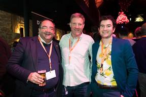 Ron Mukherjee, Alain Haentjens (Brain Network International) et Guillaume Chatelain (Serpico) ((Photo: Patricia Pitsch/Maison Moderne))