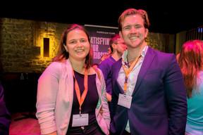 Natalie Gerhardstein (Delano) et William Wilson (Apex Corporate Services) ((Photo: Patricia Pitsch/Maison Moderne))